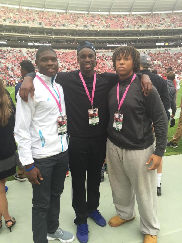 Newton trio at Alabama