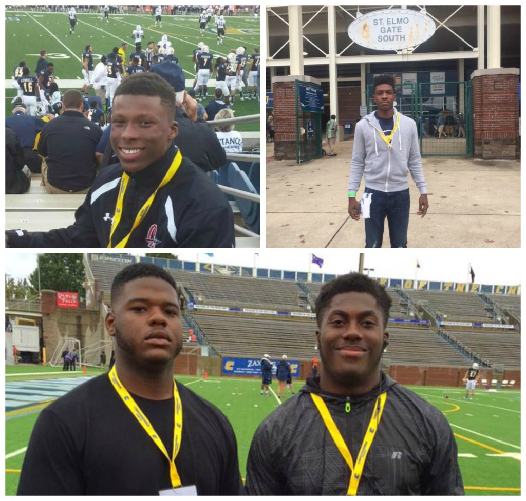 Perry (top left), Dampier (top right) and Behr Cooper and Manny Holmes at UTC