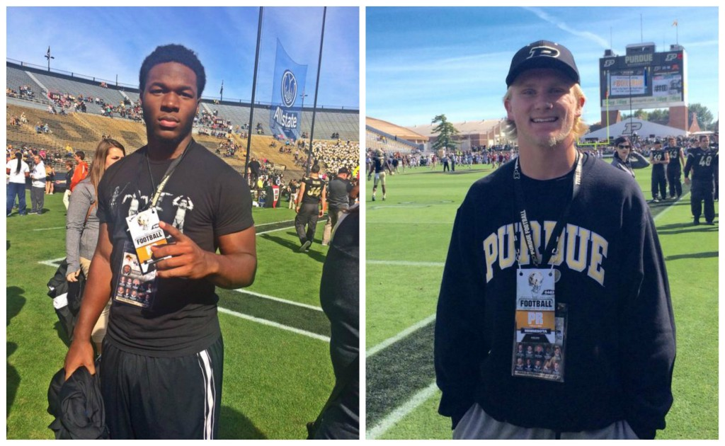 Allen (left) and Ashley (right) enjoying their Purdue visits.