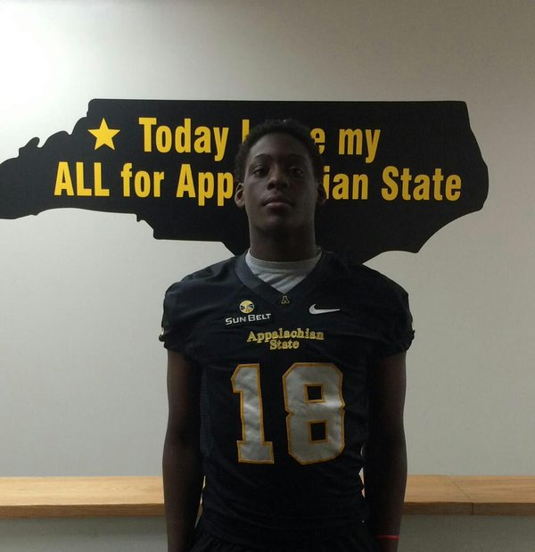Junior Stevenson is very interested in App State