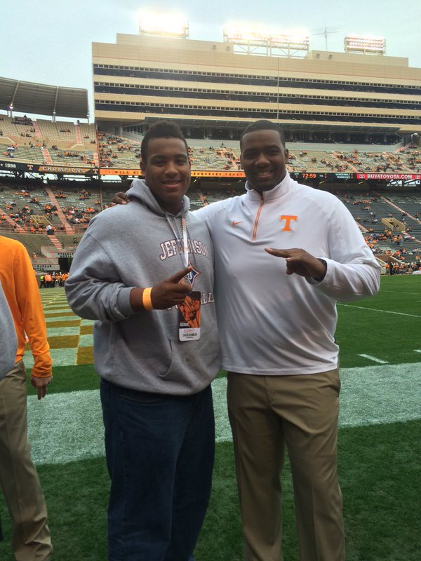 Chandler on his visit to Tennessee