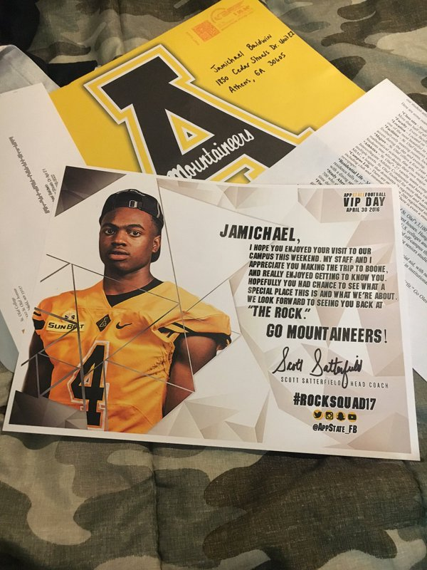App State showing heavy interest in the speedy athlete